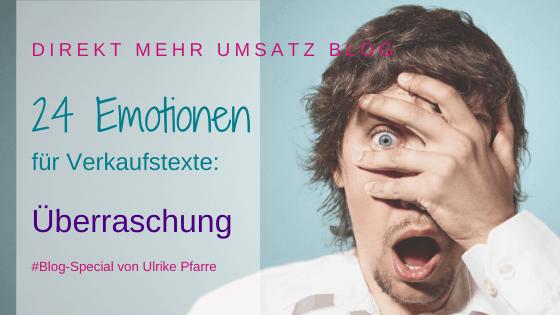 Emotionen im Verkaufstext (13/24): Überraschung!