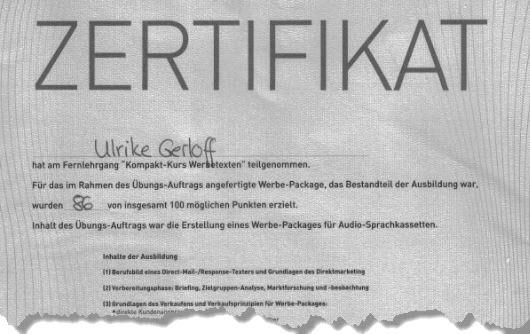 zertifizierte Werbetexter