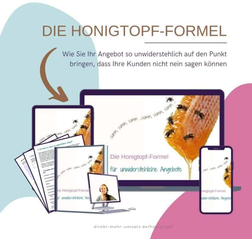 Der Honigtopf-Formel-Online-Workshop
